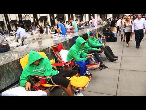 iPhone fever begins fans set up camp outside Apple store in New York