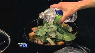 Ginger Garlic Kale With Tempeh