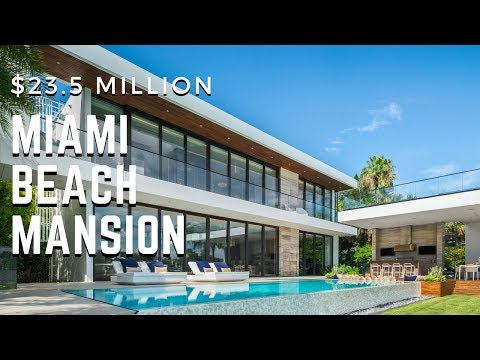 Tour The Newest Modern Mansion In Miami Beach Offered At $23.5 MILLION