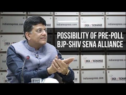 Railway Minister Piyush Goyal On A Possible BJP - Shiv Sena Tie Up
