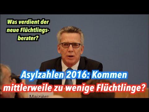 Asylzahlen 2016: Kommen mittlerweile zu wenige Flüchtlinge, Herr de Maizière?