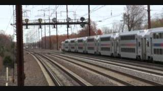 Amtrak Trains at Metropark and Edison Stations