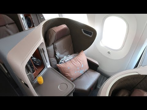 Singapore Airlines B787 Dreamliner Business Class Bali to Singapore