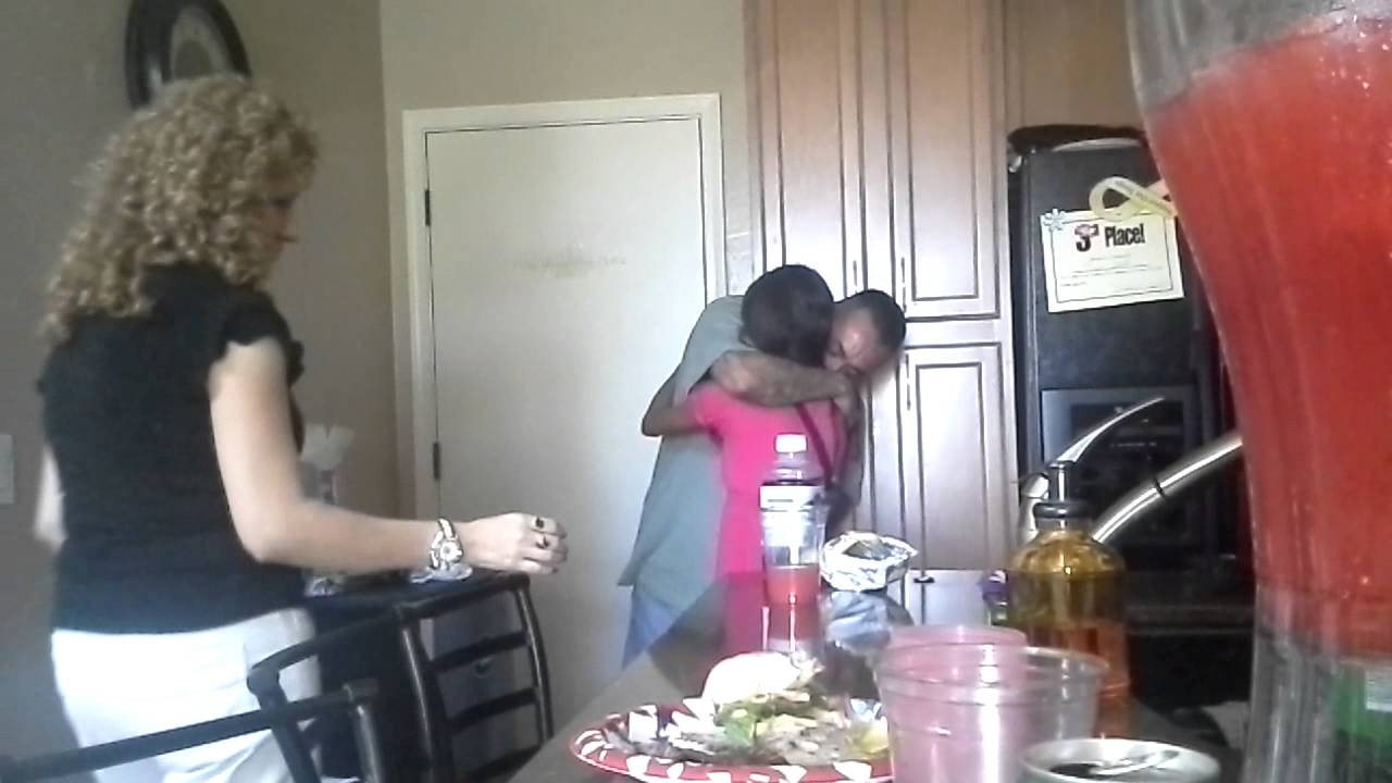 Bored daughter gives dad a big surprise