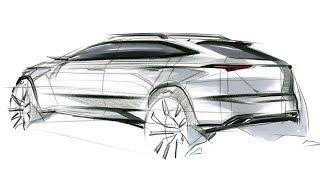 Car Sketch & Design(SUV Rear Quarter View)