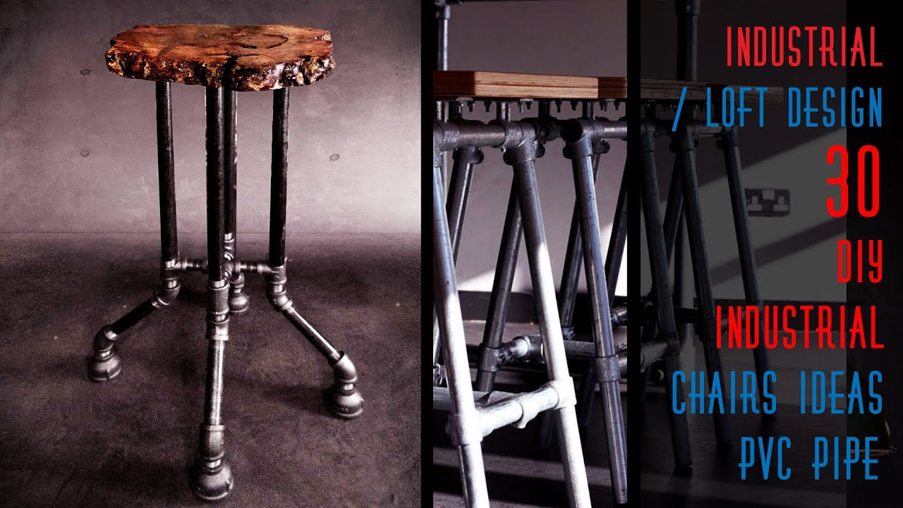 30 Diy Industrial Chairs Ideas Pipe Youtube