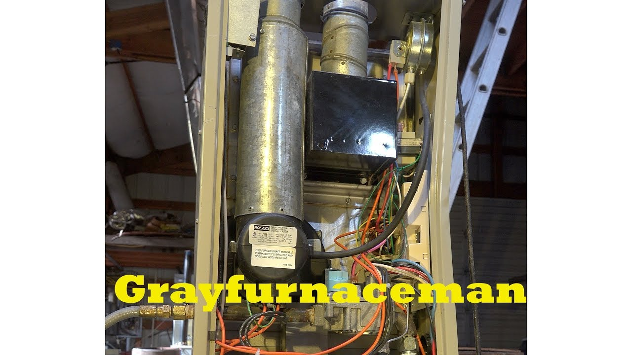 Snyder General Intercity products GUA model gas furnace ...