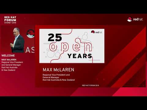 Red Hat Forum Sydney 2018 - Opening Welcome