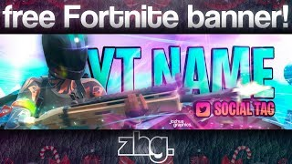 Fortnite FREE Banner Template | Speed Art Photoshop and Illustrator