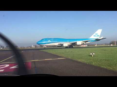 747 take off from Rotterdam The Hague after diversion