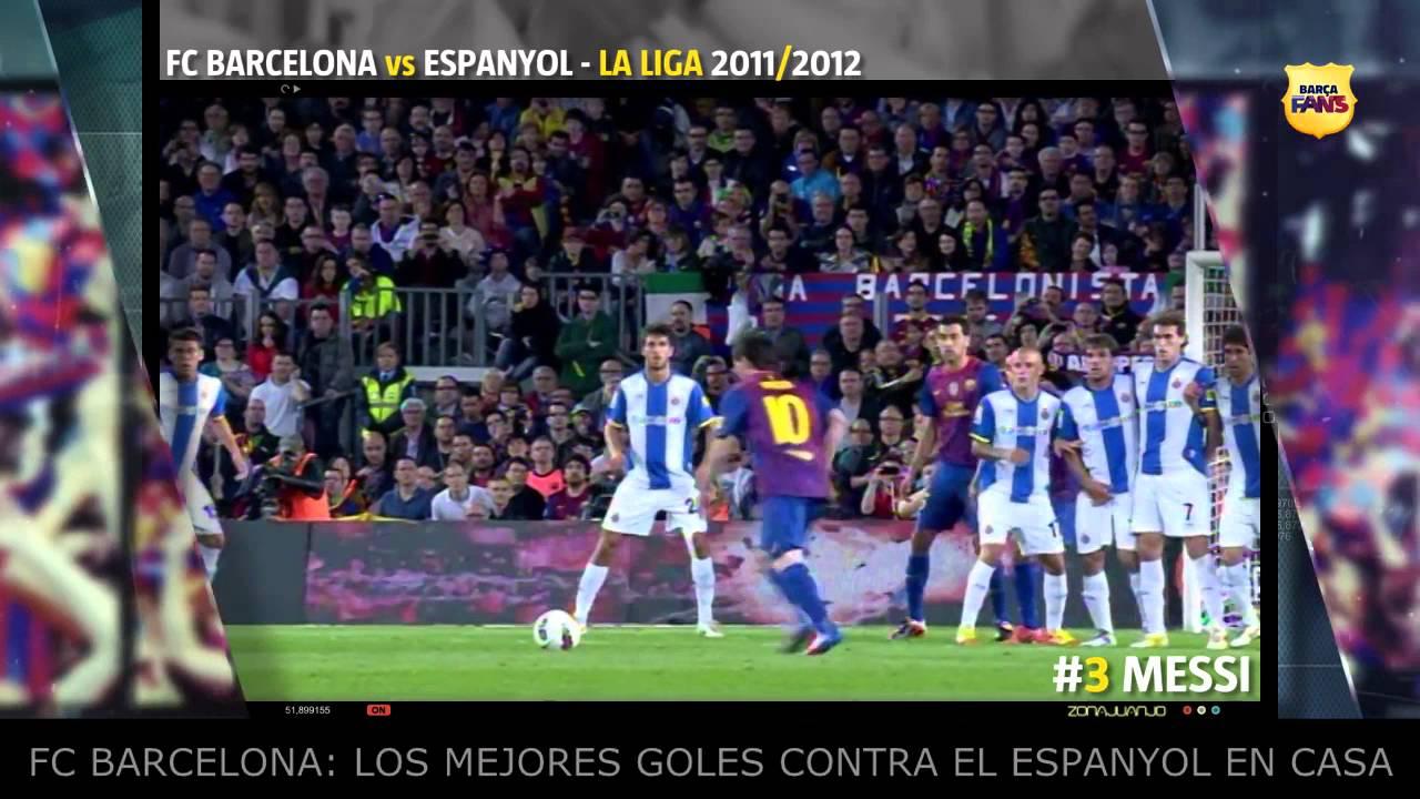 TOP 5 Amazing Goals Barcelona vs Espanyol en el Camp Nou