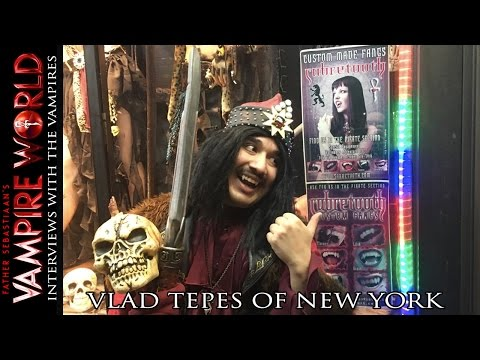 Vampire Interviews - Vlad Tepes of New York at the FangShop
