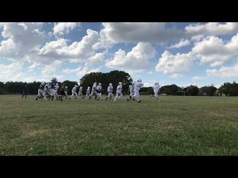 Frankford Middle School athlete warm up