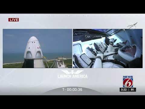 Start Rakiety Dragon NASA AND SPACEX