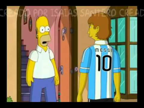 Messi on the simpsons youtube - Azulejos de los simpsons ...