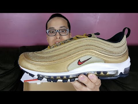 online store e4efb 49f9b These Always Sell Out! Nike Air Max 97 OG QS Metallic Gold 2018 Review! -  SneakerHead213
