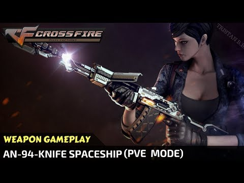 CrossFire - AN-94-Knife Spaceship In Zombie Mode (Full Gameplay) [VVIP Weapon]