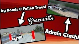 SCHNEESTURM IN GV! * Eisige Straßen, umgestürzte Bäume und Admin Auto Crash!* | Roblox Greenville