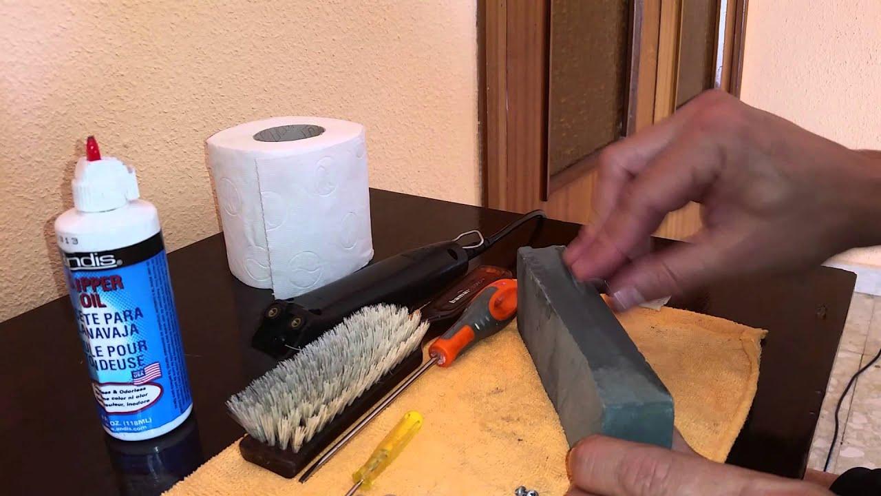 Como Afilar Cuchillas De Maquinas Corta Cabello Youtube
