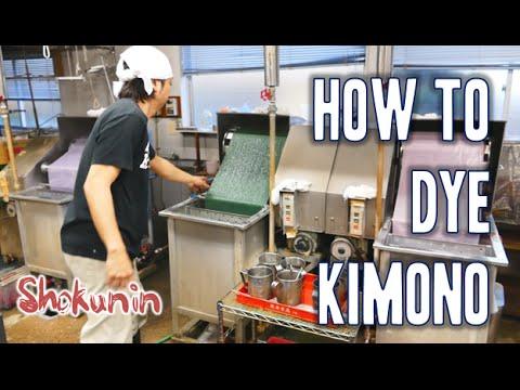 Shokunin | How to dye kimono