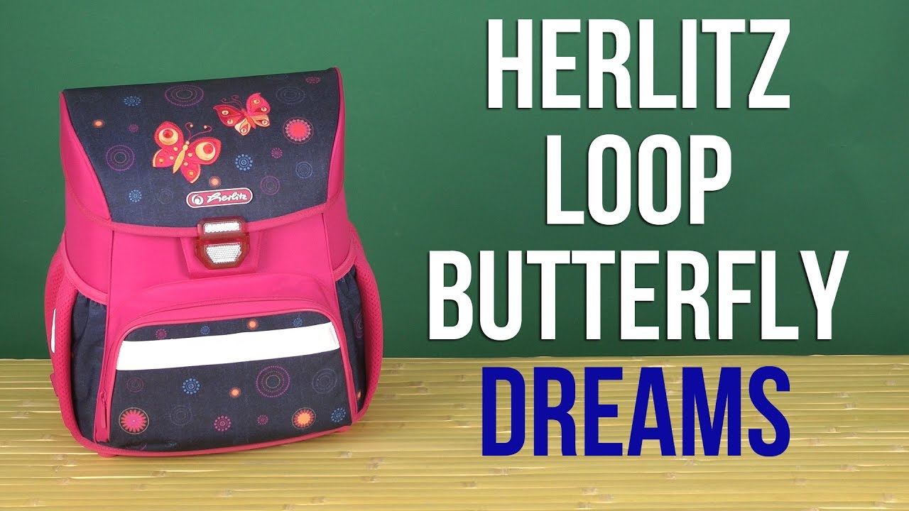 167d8852e8aa0 Распаковка Herlitz Loop Butterfly Dreams 50008070 - YouTube