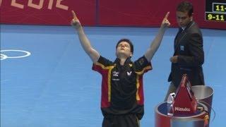 Ovtcharov (GER) Wins Table Tennis Quarterfinal v Maze (DEN) - London 2012 Olympics