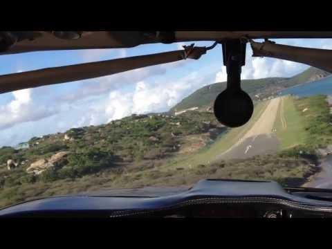 Travel to the BVIs: Landing on the airstrip at Virgin Gorda, the British Virgin Islands