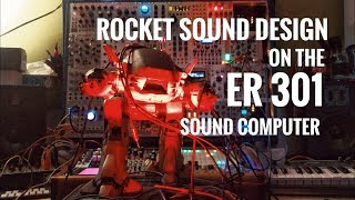 Eurorack Sound Design Fun: Rocket Samples + ER 301 + Maths