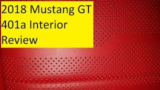2018 Mustang GT Interior Review 401a Showstopper Red