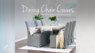 IKEA Dining Chair Makeover With Custom Covers | Comfort Works Slipcovers