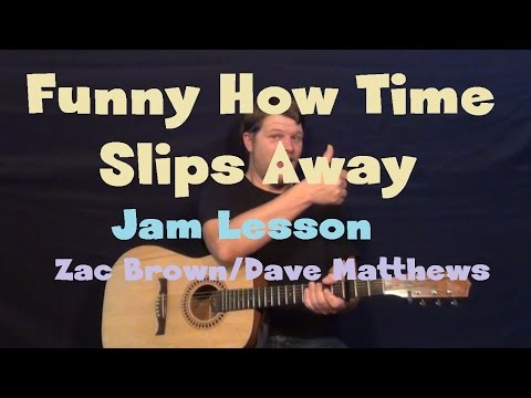 Funny How Time Slips Away (Willie Nelson) Easy Jam Guitar Lesson How to Play Tutorial