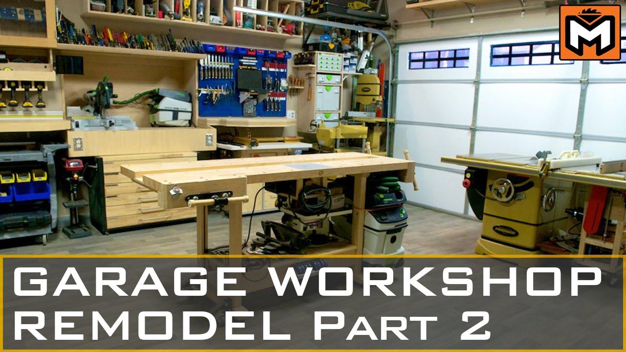 Garage Workshop Remodel Part 2 Youtube