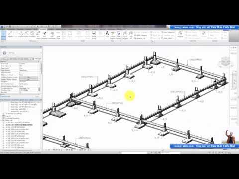 Bài 5 - Cách đọc bản vẽ móng nhà công nghiệp - nhà xưởng - kết cấu thép dưới dạng mô hình 3D