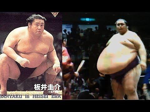 大乃国ー板井 平成元年 Onokuni vs. Itai '89 仕切り 大きな腹 - YouTube