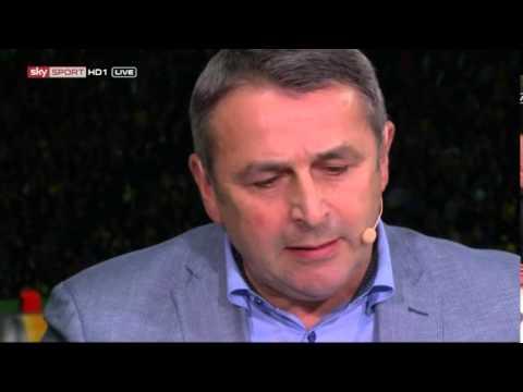 DFB Pokalfinale - Interviews (Klaus Allofs, Diego Benaglio)