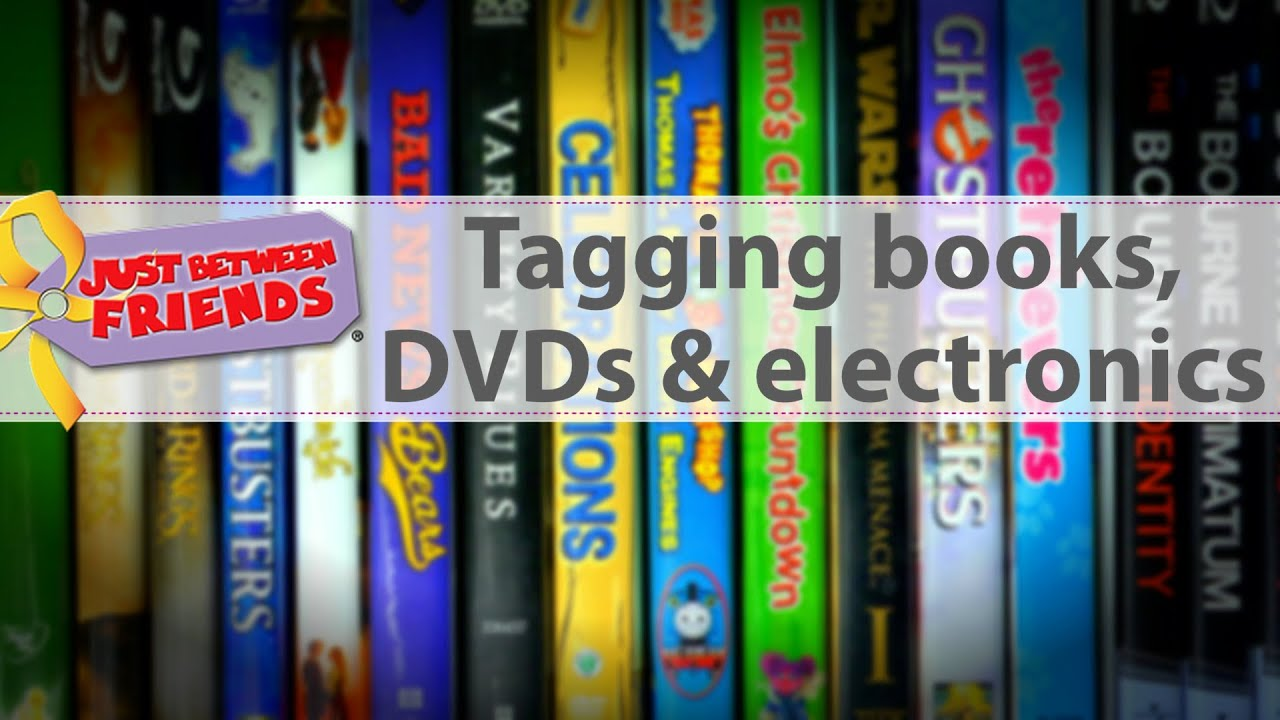 How to Tag Books DVDs and Electronics for JBF YouTube