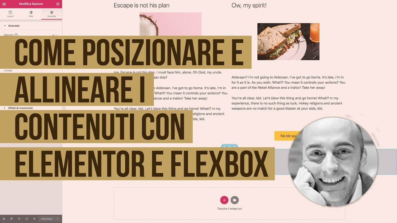 Posizionare e allineare i contenuti con Elementor grazie a Flexbox