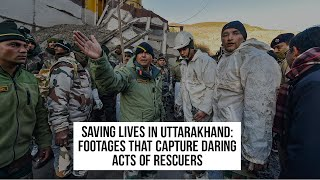 Saving lives in Uttarakhand: Footages that capture daring acts of rescuers