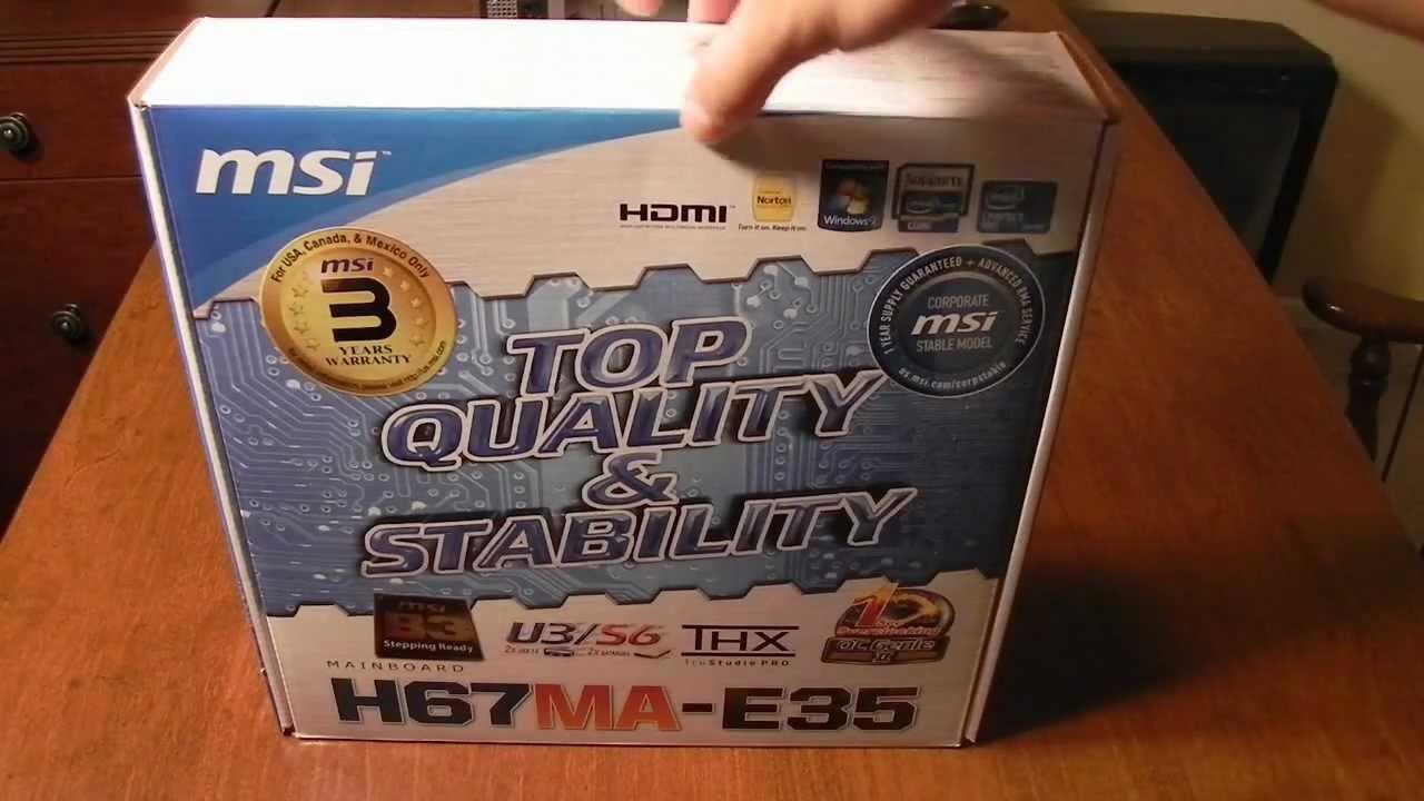 MSI H67MA-E35 Windows 8