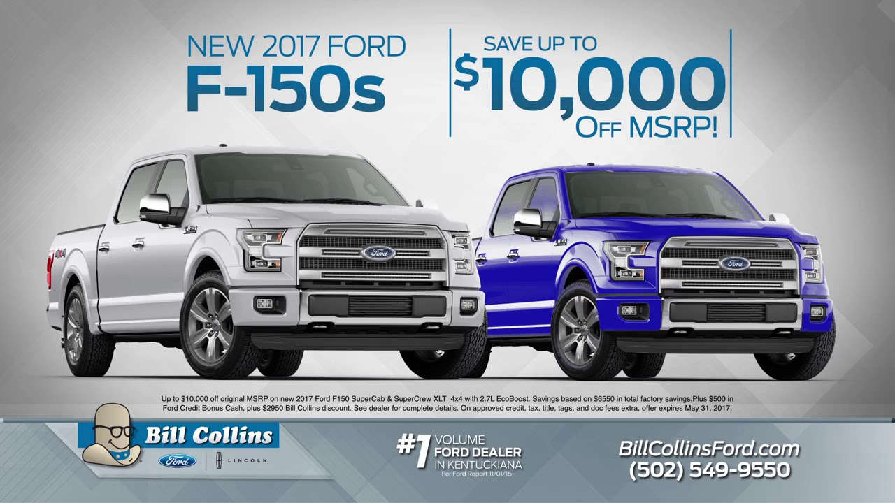 Bill Collins Ford Memorial Day Sales 2017 Youtube