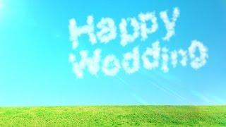Repeat youtube video [無料のHD動画素材]キレイな空・草原・雲の文字[LOVE/HappyWedding]