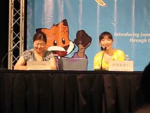 Fumiko Orikasa as Rukia calling out her Zanpakuto (Animazement 2012)