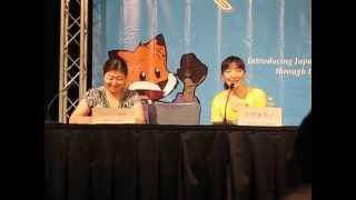 Fumiko Orikasa as Rukia calling out her Zanpakuto (Animazement 2012) thumbnail