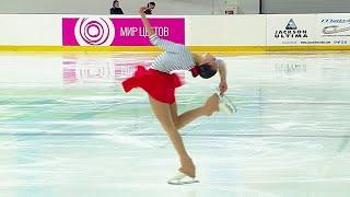 Арина Онищенко Короткая программа Женщины Йошкар Ола Кубок России по фигурному катанию 2021 22