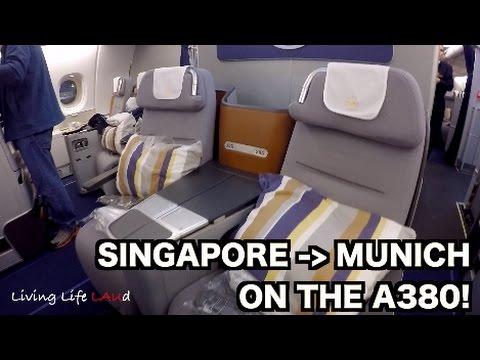 SINGAPORE - MUNICH ON THE A380! | LUFTHANSA BUSINESS CLASS