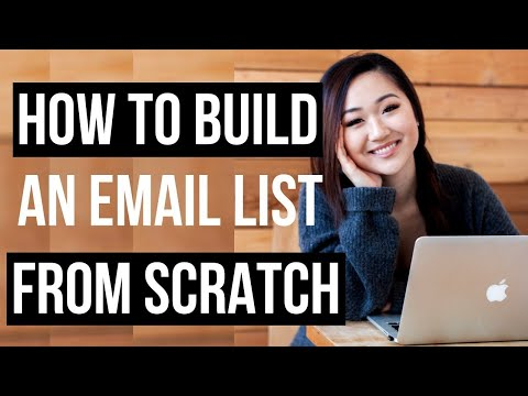 HOW TO BUILD AN EMAIL LIST FROM SCRATCH (0 TO 15,000+ EMAIL SUBS!)