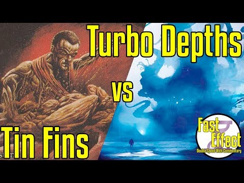 Brainstorm MTG | Legacy Magic: The Gathering W/Commentary | Tin Fins VS Turbo Depths | Fast Effect