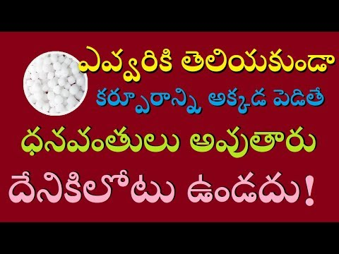 ఎవ్వరికి తెలియకుండా కర్పూరాన్ని అక్కడ పెడితే ధనవంతులు అవుతారు దేనికిలోటు ఉండదు || MYTV India