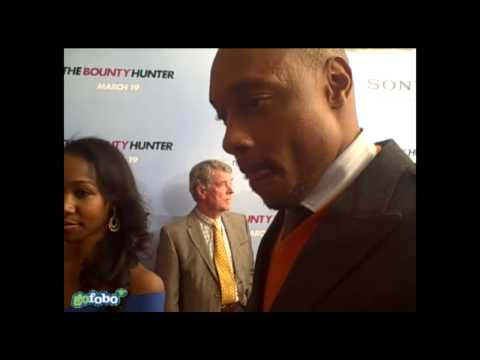 with Dorian Missick at The Bounty Hunter premiere