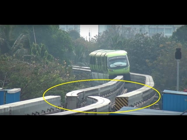 MUMBAI MONORAIL - Dont Miss The End & See Something called TURNOUT, Never Seen Before